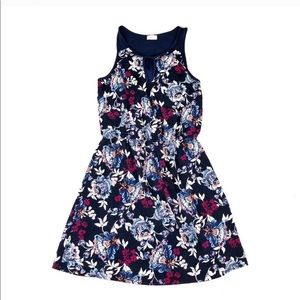 Pixley navy and floral dress